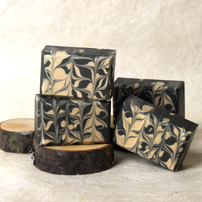 Charcoal and Cedar Beer Cold Process Soap Kit
