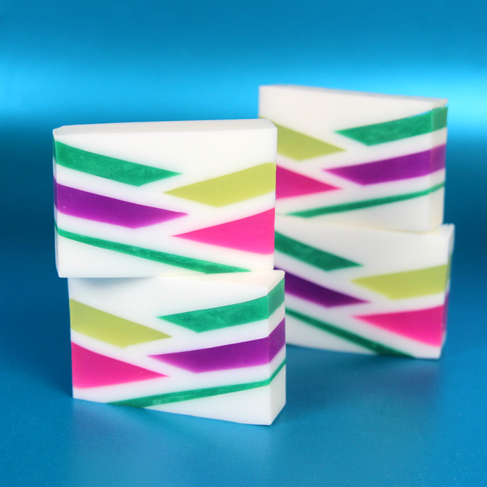Neon Geometric Melt and Pour Soap Kit